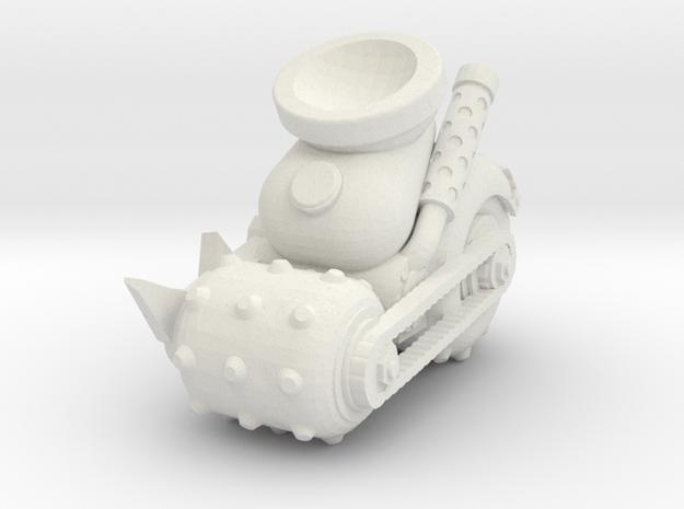 Space Orks MotorHedz Wheels Legs  Type 02 in White Natural Versatile Plastic
