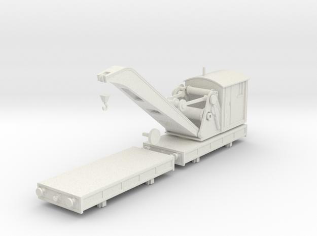 Breakdown Crane & Flatbed OO/HO (Left) in White Natural Versatile Plastic