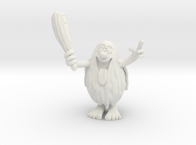 Captain Caveman 1/60 miniature for games and rpg in White Natural Versatile Plastic