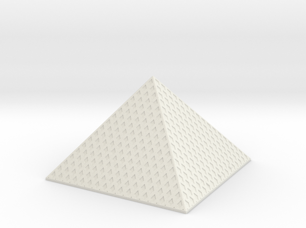 Louvre Pyramid 1/1250 in White Natural Versatile Plastic