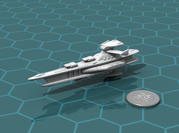 Novus Regency Heavy Cruiser in White Natural Versatile Plastic
