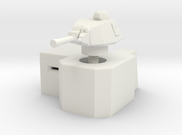 Bunker with Somua S35 turret 1/100 in White Natural Versatile Plastic