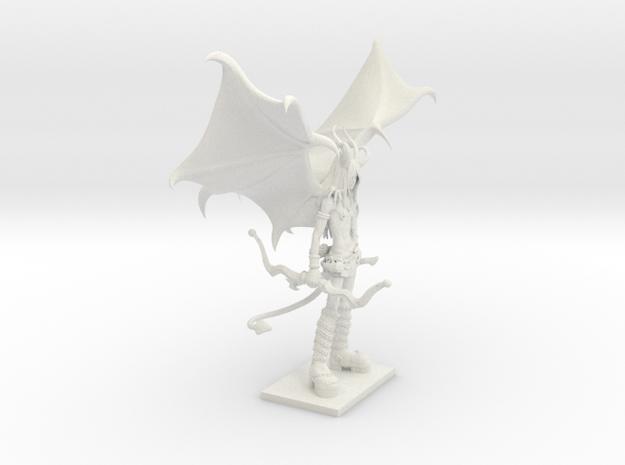 Fantasy Figures 21 - Half Demon in White Natural Versatile Plastic