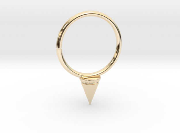 Single Spike Seam Ring in 14K Yellow Gold