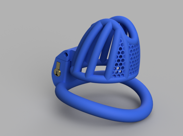 Cherry Keeper Small with TouchStop in Blue Processed Versatile Plastic: Extra Small
