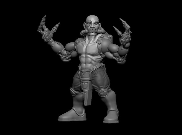 Dragon Monk in Smooth Fine Detail Plastic
