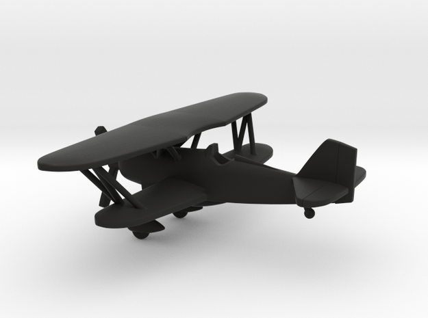 Curtiss P-6 Hawk in Black Natural Versatile Plastic: 1:160 - N