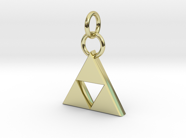 ZD Triforce Charm in 18k Gold Plated Brass