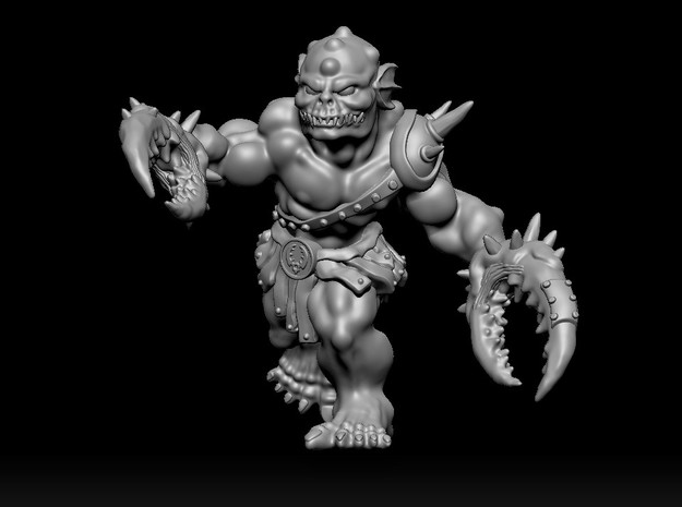 Clobster in Smooth Fine Detail Plastic