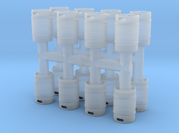 Beer Keg (16 pieces) 1/72 in Smooth Fine Detail Plastic