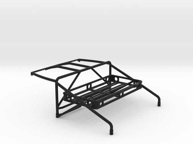 JK Roll Cage V4 w/ Cargo Rack in Black Natural Versatile Plastic