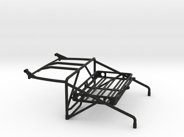 JK Roll Cage V4 w/ Cargo Rack & Light Bar Mount in Black Natural Versatile Plastic