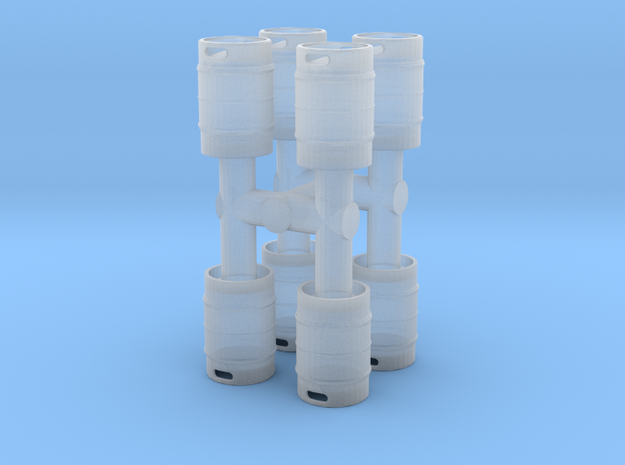 Beer Keg (8 pieces) 1/48 in Smooth Fine Detail Plastic