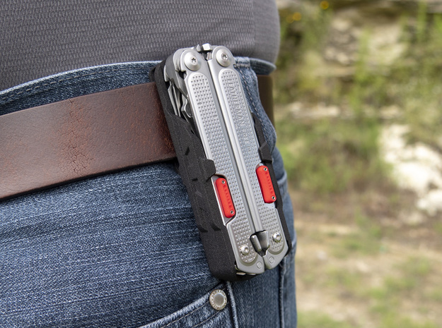 Holster for Leatherman Free P4 in Black Natural Versatile Plastic: Small