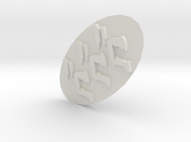 GOGOGO Stamp in White Natural Versatile Plastic