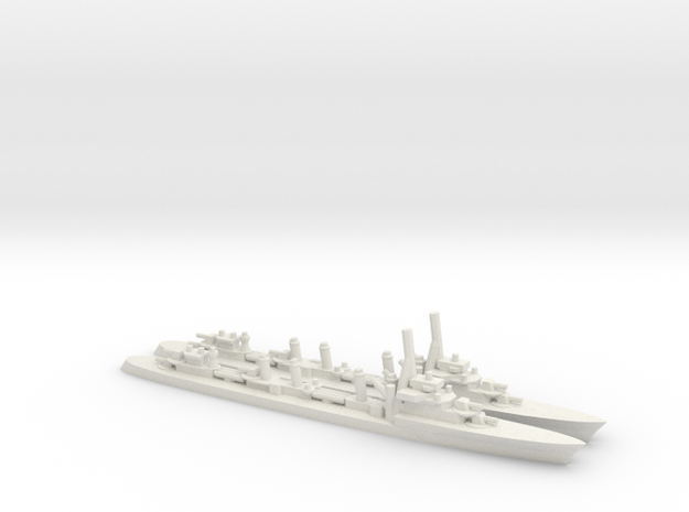 French Guepard-class Destroyer (x2) in White Natural Versatile Plastic