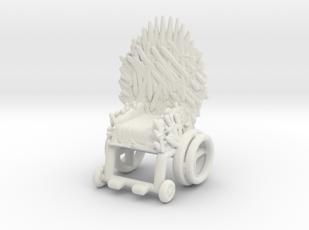 Game Of Thrones Ending Bran Throne meme miniature in White Natural Versatile Plastic