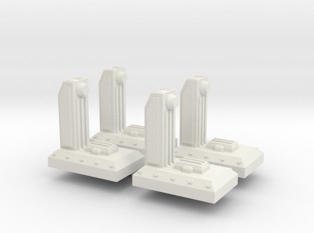 Small Dock V1 x 4 in White Natural Versatile Plastic