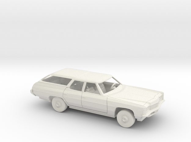 1/25 1971 Chevrolet Impala Station Wagon Kit in White Natural Versatile Plastic