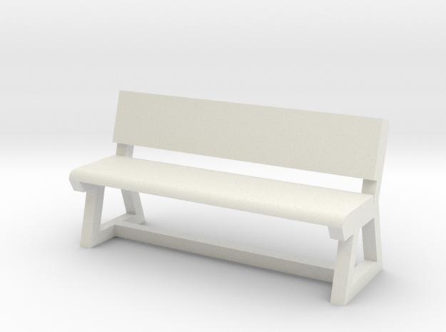 Concrete Bench in White Natural Versatile Plastic