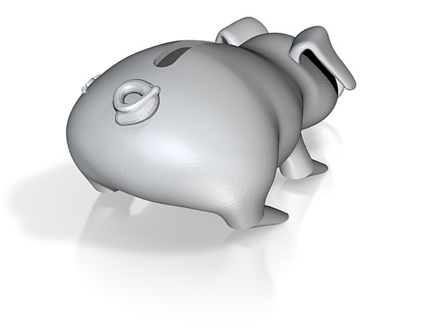 Glass money pig 3d printed