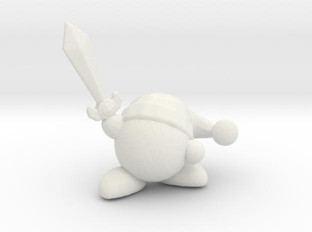 Kirby with Sword 1/60 miniature for games and rpg in White Natural Versatile Plastic