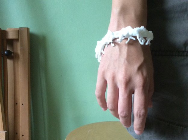 Running Horses Bracelet in White Strong & Flexible Polished