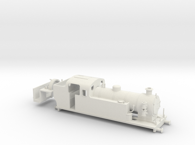 009 Maunsell Tank 1 (Farish Prairie Chassis, Air) in White Natural Versatile Plastic
