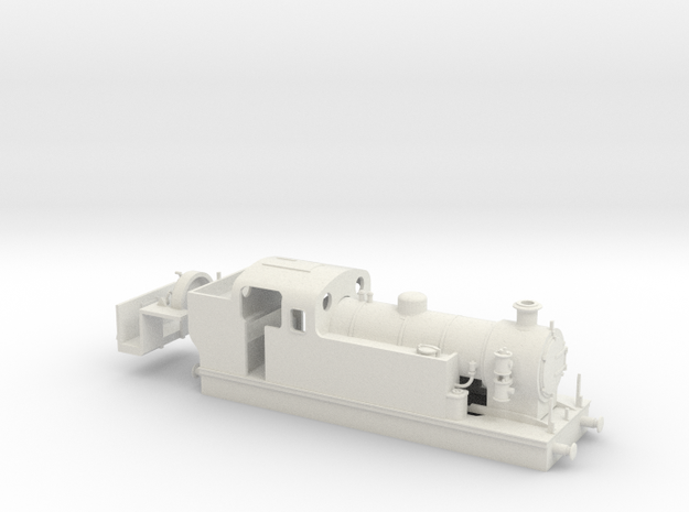 009 Maunsell Tank 1 (Kato Chassis, Westinghouse) in White Natural Versatile Plastic