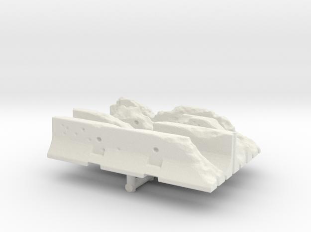 Damaged Jersey barrier (x4) 1/120 in White Natural Versatile Plastic