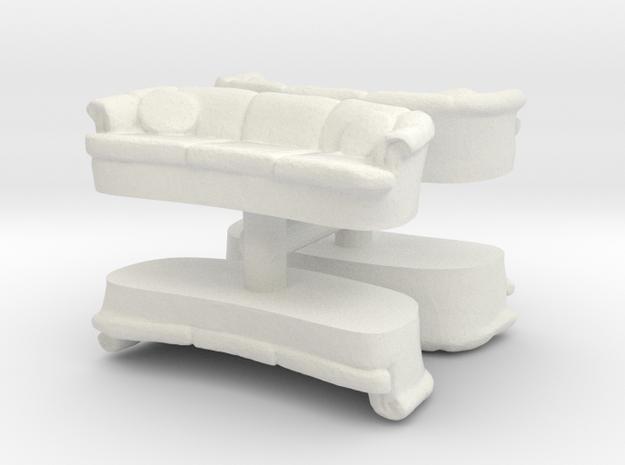 Sofa (4 pieces) 1/100 in White Natural Versatile Plastic