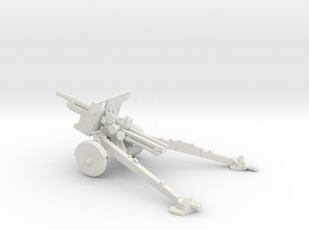 1/87 IJA Type 91 105mm Howitzer(motorized) in White Natural Versatile Plastic