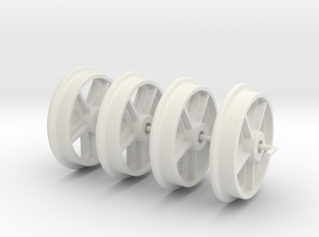 Rhosydd Slate Quarry 5 Web Spoke Wheels (SM32) in White Natural Versatile Plastic