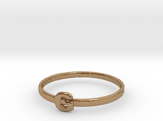 G Ring in Polished Brass