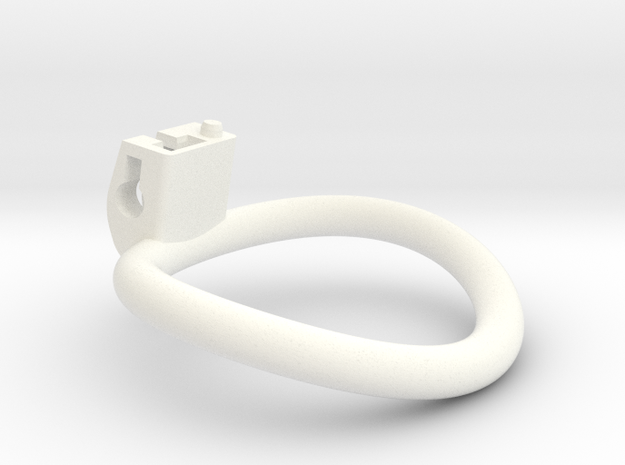 Cherry Keeper Ring - 56x51mm Wide Oval (~53.5mm) in White Processed Versatile Plastic