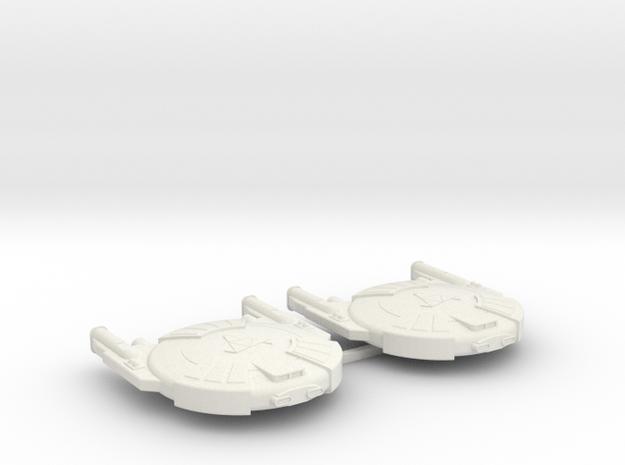 3125 Scale Andromedan Cobra Destroyers (2) SRZ in White Natural Versatile Plastic