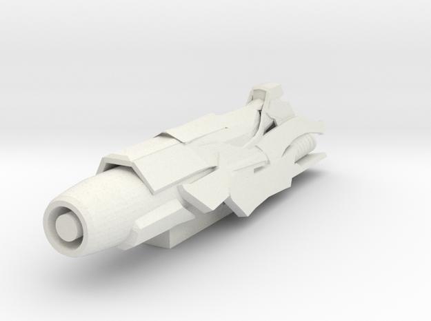 Requiem Blaster in White Natural Versatile Plastic