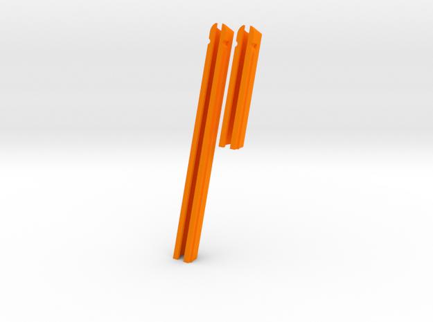 """J22-3"""" + 6"""" (slot 9"""" x 1/2"""" and TD= 1/2"""")  in Orange Processed Versatile Plastic"""