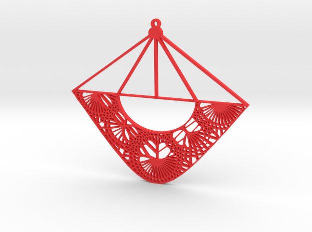 Fawn Qiu Voronoi Pattern (001e) in Red Processed Versatile Plastic