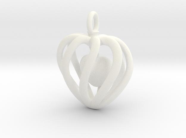 Heart Cage Pendant - Small, No Arrow 3d printed