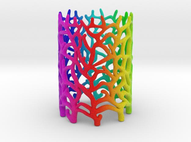 Coraline Tealight Multicolor Sandstone 3d printed