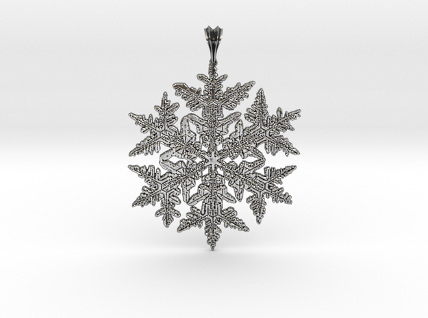 Wilson Bentley Snowflake Crystal Pendant in Antique Silver
