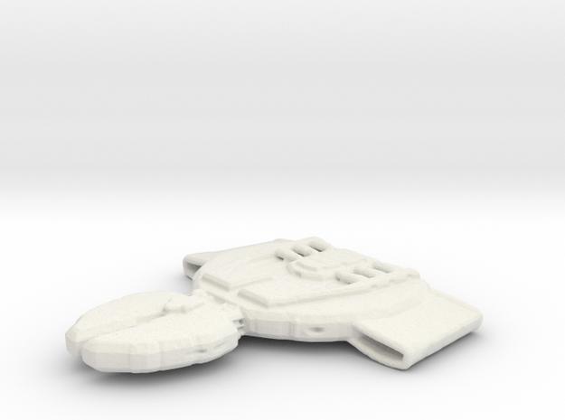 Klingon Klalath in White Natural Versatile Plastic