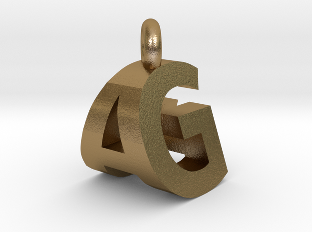 AG pendant top in Polished Gold Steel