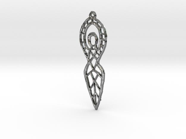 :Goddess Sketch: Pendant 3d printed