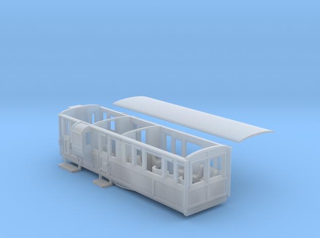 Ffestiniog Rly 1st/brake coach NO.11 in Smooth Fine Detail Plastic
