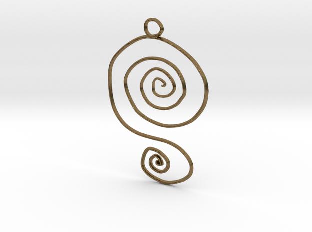 :Spiral Swirl: Pendant 3d printed