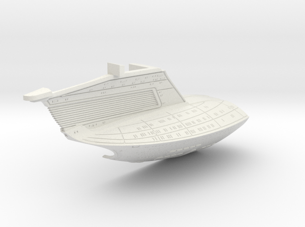 1/1400 USS Ambassador proposal Left Secondary Hull in White Natural Versatile Plastic