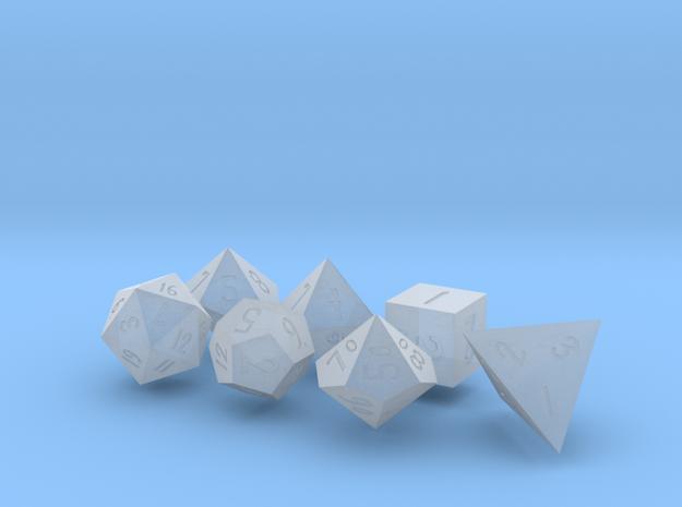 Elizabeths_Dice_Set in Smoothest Fine Detail Plastic