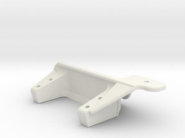 Passenger side diff-Servo mount AR60-Renforced  in White Natural Versatile Plastic